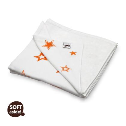 Bambusová deka XKKO BMB 130x70 - Orange Stars