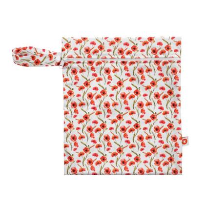 Nepremokavé vrecko XKKO Veľkosť S  - Red Poppies