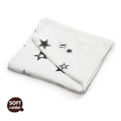 Bambusová deka XKKO BMB 130x70 - Silver Stars
