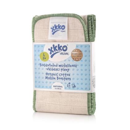 Vkladacie plienky XKKO Organic Old Times - Natural Veľkosť L (2ks)