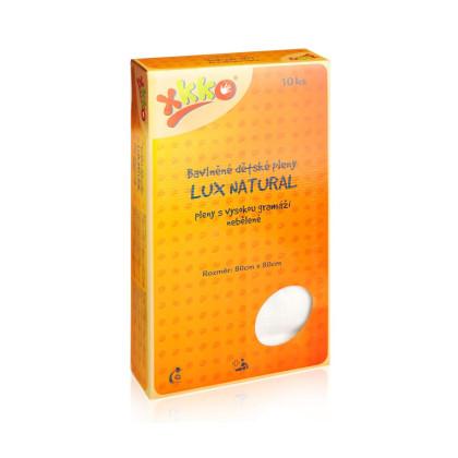 Vysokogramážné detské plienky XKKO LUX ECO 80x80 - Natural