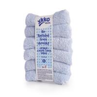 BIO bavlnené obrúsky XKKO Organic 21x21 - Baby Blue 5x6ks (VO bal.)