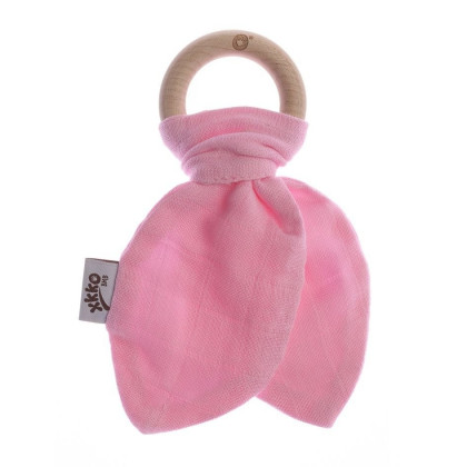 Hryzátko XKKO BMB Lístky - Baby Pink