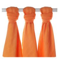Bambusové plienky XKKO BMB 70x70 - Orange 3ks