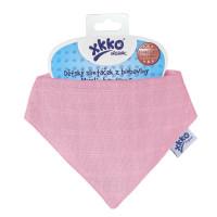 Šatka XKKO Organic Staré časy - Light Pink