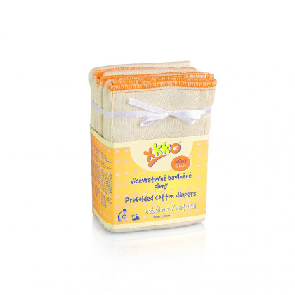 Viacvrstevné plienky XKKO Classic (4/8/4) - Infant Natural