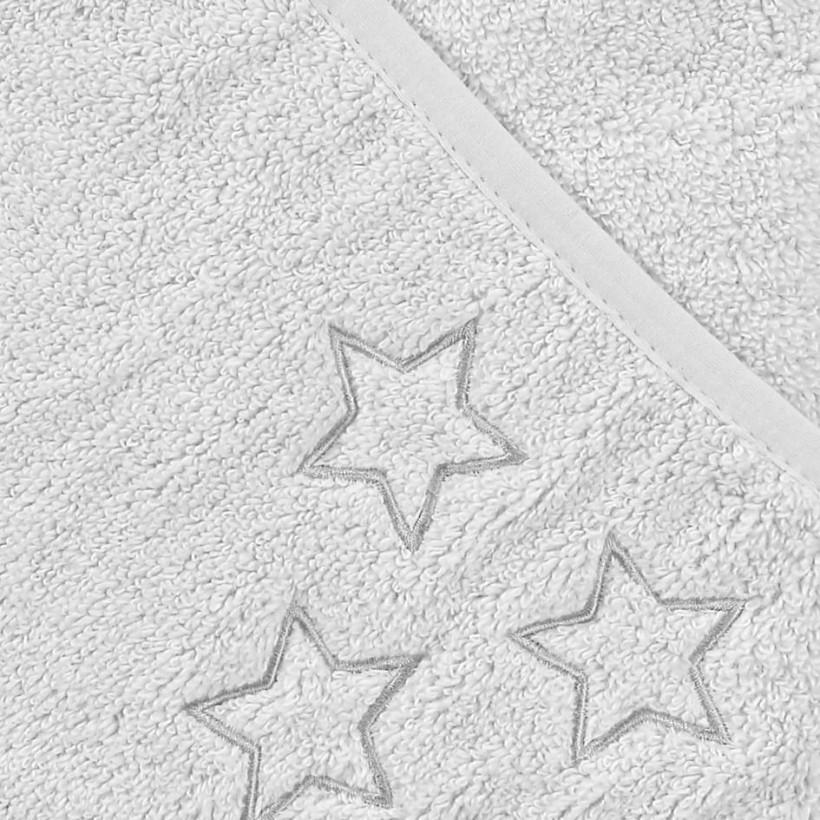 BIO Bavlnená froté osuška s kapucňou XKKO Organic 90x90 - White Stars 5x1ks (VO bal.)